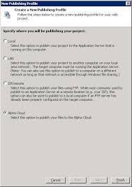 publishing profile management