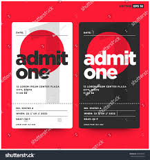 admit one ticket template number venue stock vector 643908592