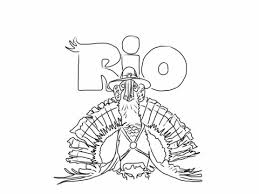 rio turkey coloring free printable coloring pages