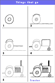 how to draw a truck instruction sheet sb8290 sparklebox