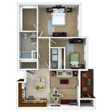 Two Bedroom Floor Plan by Senior Apartments Indianapolis Floor Plans