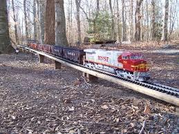 g scale trains trains running on the beachwood railroad garden