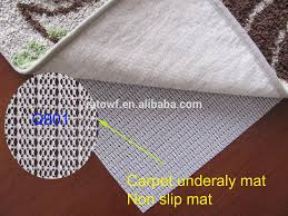 Non Slip Area Rug Pad Waterproof Pvc Foam Non Slip Area Rug Pad For Carpet Style Buy