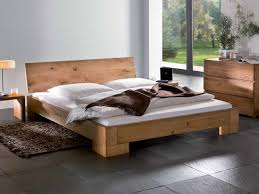 rustic wood minimalist bed frame twin full queen king for queen
