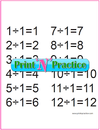 Division Table Chart Third Grade Division Worksheets Customize And Print
