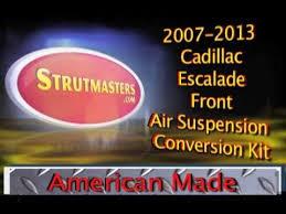 cadillac escalade air suspension 2007 2013 cadillac escalade front air suspension conversion build