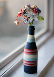 How To Paint Inside Glass Vases Diy How To Make A Yarn Wrapped Bottle Vase Yarn Wrapped Bottles