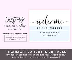 wedding welcome sign template free printable welcome sign template welcome sign template rustic