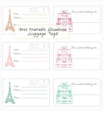 Business Card Luggage Tags Laminated Free Printable Luggage Tags Free Printable Pinterest