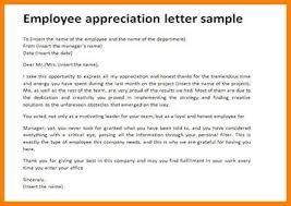 employee appreciation letter sle the letter sle