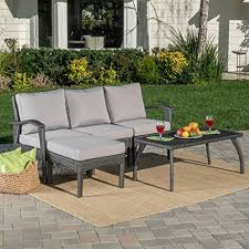 Grey Silver Sofa Amazon Com Maui Patio Furniture 5 Piece L Shaped Outdoor Wicker