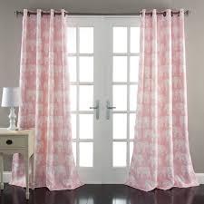 amazon com lush decor elephant parade window curtain panel set