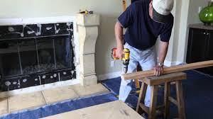 eldorado fireplace surround installation video youtube