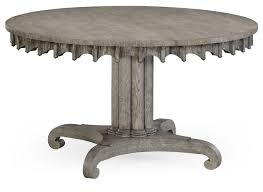 round to oval dining table gray driftwood color oak