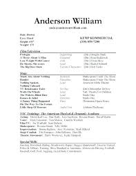 free acting resume template free actor bio template sle acting resume template toolkit hash