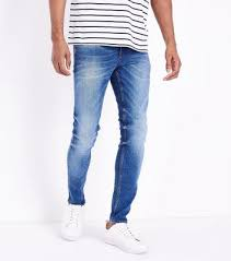 mens light blue jeans skinny men s jeans ripped skinny slim fit denim new look