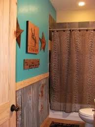Western Bathroom Shower Curtains Turquoise Western Bathroom Not Thrilled With The Shower Curtain