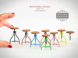 miniature american iron barstool rotating rotate bar stool