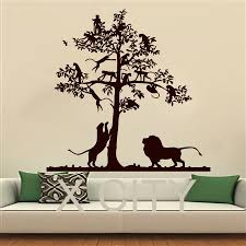 compare prices on wall tree stencil online shopping buy low price wall decals lion tree monkey safari landscape children vinyl sticker boy girl nursery bedroom home decor