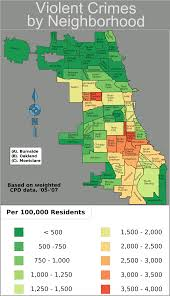 Chicago Maps by Chicago Weighted Crime Map 05 07 U2022 Mapsof Net