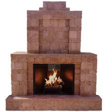 Outdoor Fireplace by Pavestone Rumblestone 84 In X 38 5 In X 94 5 In Outdoor Stone