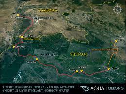 Mekong River Map Aqua Mekong Hudsonmod Com