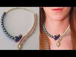 ribbon necklace making images Learn how to make diy beaded kanzashi quilling necklace step by jpg