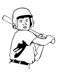 left handed baseball player coloring page download u0026 print