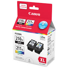 canon pg 210xl cl 211xl black colour ink 2973b008 2 pack ink