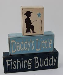 Fishing Themed Baby Shower - amazon com primitive country wood stacking sign blocks daddy u0027s