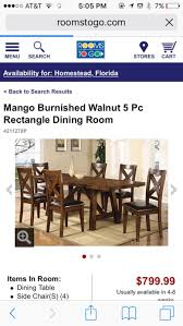 rooms to go dining table in homestead letgo