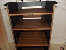 Hrs Audio Rack Audio Rack Stereo Cabinet Vintage New Glass Top Turntable Photo