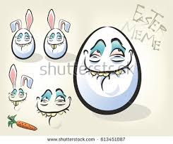 Egg Meme - funny egg meme rabbit ears vector stock vector 613451087