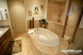 bathroom in the one bedroom one bath suite at the aston at the
