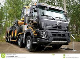 new volvo truck 2017 new volvo fmx truck at finnmetko 2014 editorial stock image