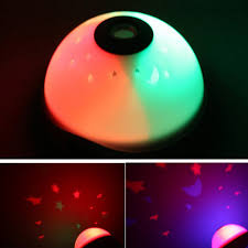 light projection alarm clock starry digital changed color table clock led star flash night light