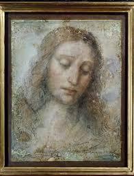 leonardo da vinci sketch for the head of christ in the last