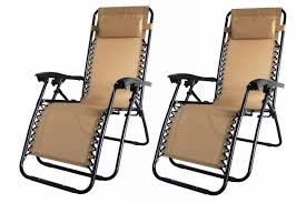 Garden Chairs 2x Palm Springs Zero Gravity Chairs Lounge Outdoor Yard Patio