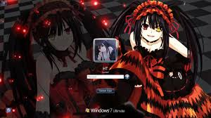 live themes windows 7 win 7 theme date a live tokisaki kurumi by ht themes anime