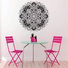Lotus Flower Wall Decal Om by Aliexpress Com Buy A49 4 Mascot Mantra Mandala Mantra Chakra