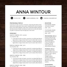 Another Name For Resume Cv Instant Download Professional Resume Cv Template Design For