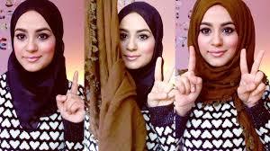 hijab tutorial square scarf youtube