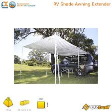 Rv Shade Awnings Nla Oztrail Rv Shade Awning Extender Tough Roof Silver Camping