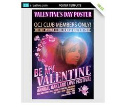 free valentine u0027s day poster template for dance club or valentine