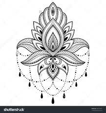 henna lotus flower outline spider cars