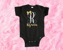 monogram baby items trendy baby clothes etsy