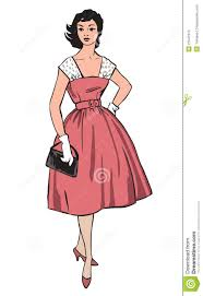 stylish fashion dressed 1950s 1960s style stock photos