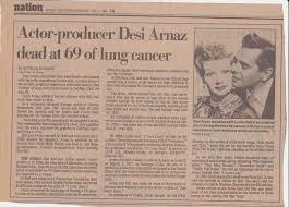 archives desi arnaz dies in his daughter u0027s arms 1986