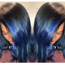 blue hair extensions hair extensions cuts and color gallery by stylist of faking