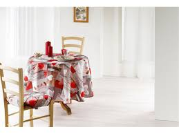 nappe style montagne nappe ronde infroissable de style campagne